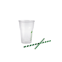 Clear PLA cup 400ml 85mm  H122mm