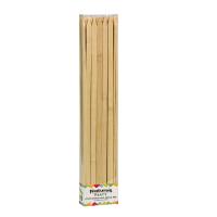Platte bamboe prikker BBQ  9mm H350mm