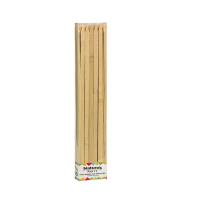 Flat bamboo BBQ skewer  9mm H300mm