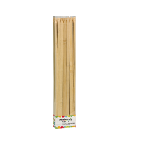 Platte bamboe prikker BBQ  9mm H300mm
