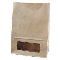 Kraft/brown paper bloomer bag with window 0ml   H220mm
