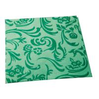 Niet-gewoven servet met motief donker groen  400x400mm