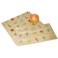 Papieren tas bruin met fruit thema  200x70mm H300mm