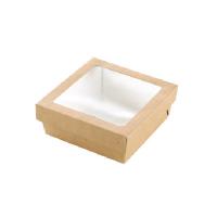 Combineerbare bruine dozen Cash & Carry verpakking (doos + deksel). 500ml 135x135mm H50mm