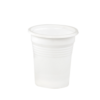 White PP plastic cup 550ml 90mm  H65mm