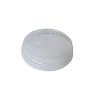 """Clear PLA """"traveller"""" flat lid with hole  Ø96mm"""
