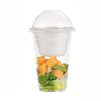 Plastic PET shaker transparant 580ml Ø95mm  H150mm