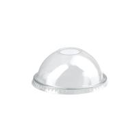 Couvercle PET transparent dôme avec trou