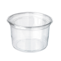 Deli pot rond plastic PET transparant met deksel 700ml Ø117mm  H107mm