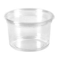 Deli pot rond PET transparant 700ml Ø117mm  H107mm