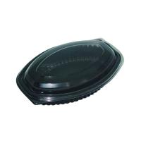 Zwarte ovale PP plastic ovenschaal 500ml 207x143mm H37mm