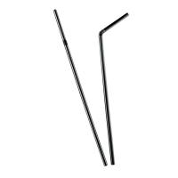 Zwart flexibel PP plastic rietje  Ø5mm  H240mm