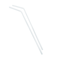Transparant flexibel PP plastic rietje  Ø5mm  H240mm