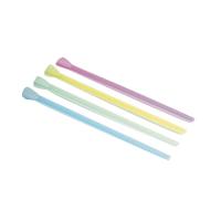 Lepel rietje plastic PP in kleur  Ø6mm  H200mm