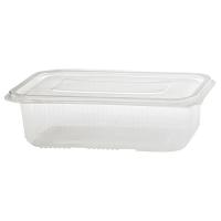 PP magnetronbestendige plastic container met scharnierend deksel 750ml 190x130mm H55mm