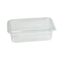 Transparante rechthoekige PET-plastic container met deksel 1850ml 230x175mm H70mm