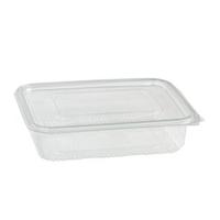 Transparante rechthoekige PET-plastic container met deksel 1700ml 230x175mm H65mm