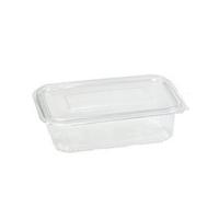 Transparante rechthoekige PET-plastic container met deksel 1350ml 230x175mm H55mm