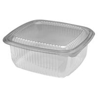 Transparante vierkante PET-plastic container met deksel 1000ml 172x167mm H75mm