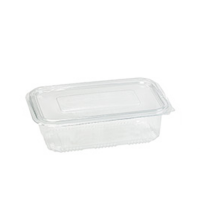 PP food container with hinged lid 250ml   H55mm