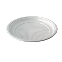 Plastic PS bord wit rond 0ml
