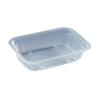 Thermoformed microweavable plastic box 250ml 137x95mm H30mm