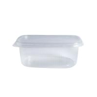 Plastic PP doosje rechthoekig transparant 125ml 110x80mm H25mm