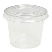 Plastic PET beker transparant 200ml Ø80mm  H65mm