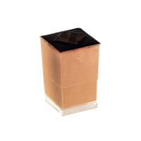 """Quadra"" Transparent square PS plastic cup 45ml 50mm  H86mm"