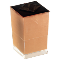 """Quadra"" Transparent square PS plastic cup 80ml 40x40mm H82mm"
