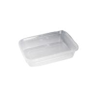 Rechthoekige geïnjecteerde PP-plastic doos met deksel 1000ml 188x126mm H74mm