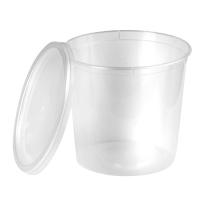 Doorzichtige ronde PP plastic doos met deksel 870ml Ø120mm  H125mm