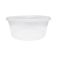 Doorzichtige ronde PP plastic doos met deksel 3000ml Ø237mm  H102mm