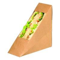 Simpel driehoekig kraft voor sandwiches met PLA venster  55x120mm H120mm