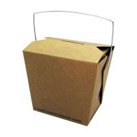 Biologisch afbreekbare vierkante kraft kartonnen doos met handvat 750ml 100x92mm H104mm