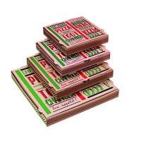 "Pizzadoos van karton brun ""Une bonne pizza""  330x330mm H35mm"