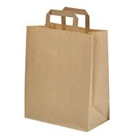 Kraft/brown paper carrier bag 0ml   H280mm