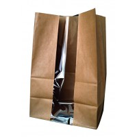 SOS papieren zak met venster bruin  180x110mm H265mm