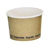Kartonnen soepbakje wit biologisch afbreekbaar 230ml Ø90mm  H62mm