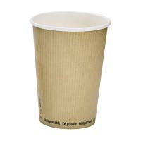 Kartonnen soepbakje wit biologisch afbreekbaar 940ml Ø114mm  H149mm