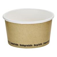 Kartonnen soepbakje wit biologisch afbreekbaar 340ml Ø114mm  H63mm
