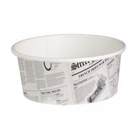'Deli' pot rond in kranten stijl 480ml Ø114mm  H72mm