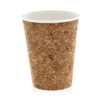 Cardboard and cork coffee cup  90x60mm H110mm