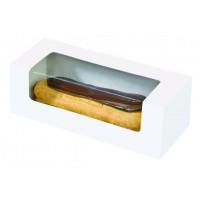 Kartonnendoosje voor eclair of macaron met doorkijk  150x60mm H50mm