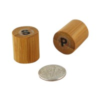 Bamboo mini salt and pepper shakers 0ml   H40mm