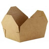 Mini kraft kartonnen maaltijd doosje  115x98mm H35mm