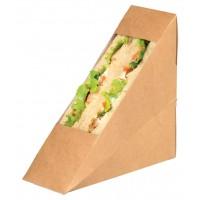 Enkel sandwich kraft driehoek met venster  50x123mm H123mm