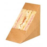 Dubbel driehoekig kraft voor sandwiches met venster  72x123mm H123mm