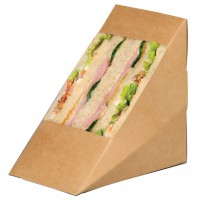 Trippel driehoekig kraft voor sandwiches met venster  85x125mm H125mm