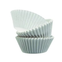 Round white greaseproof paper baking case 0ml 23mm  H20mm